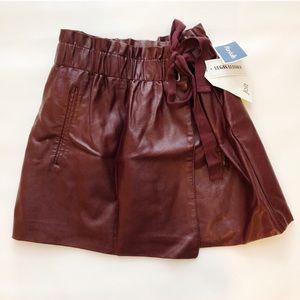 NWT Jolt vegan leather mini skirt XS